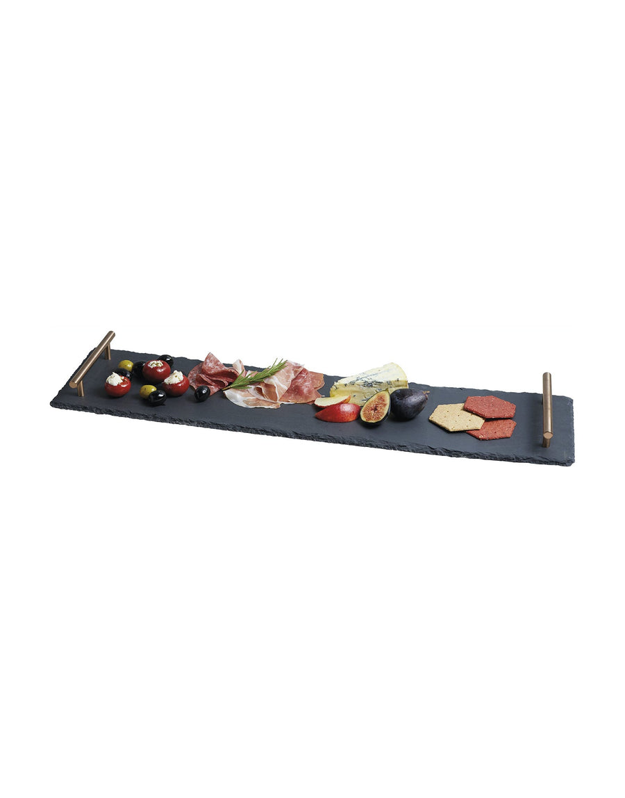 Artesà Hand Finished Serving Platter with Copper Handles