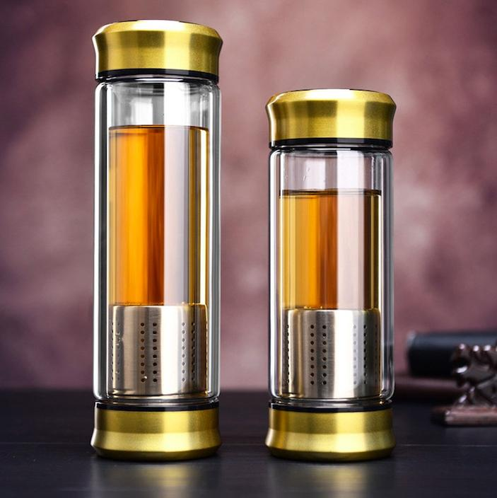 Double-Wall Glass Loose Leaf Infuser