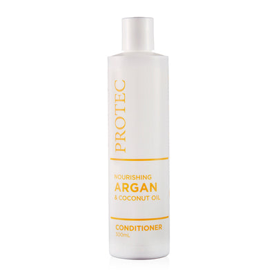Protec Argan Conditioner bottle. Paraben free. Sulphate free.