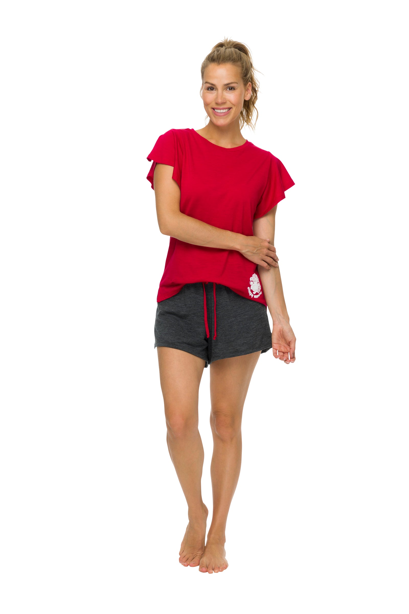 Women's Sleep Shorts | 100% Merino Wool Charcoal