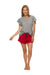 Women's Sleep Shorts | 100% Merino Wool Blaze Red