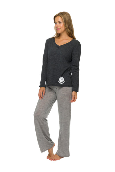 Women's Sleep Pants | 100% Merino Wool Grey Marle