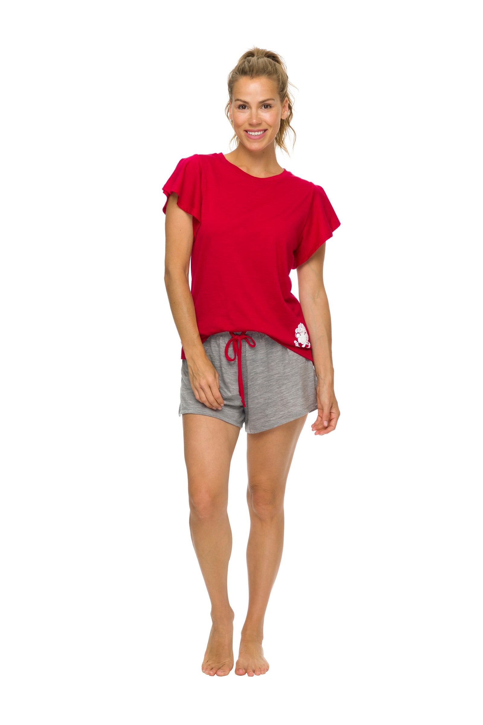 Women's Sleep Shorts | 100% Merino Wool Grey Marle