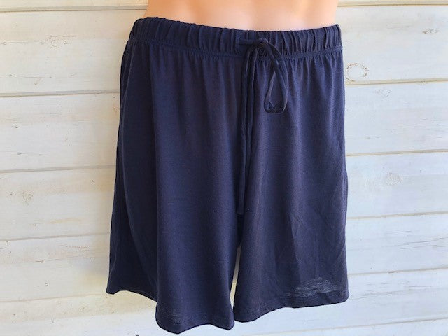 Men's Sleep Shorts | 100% Merino Wool Navy