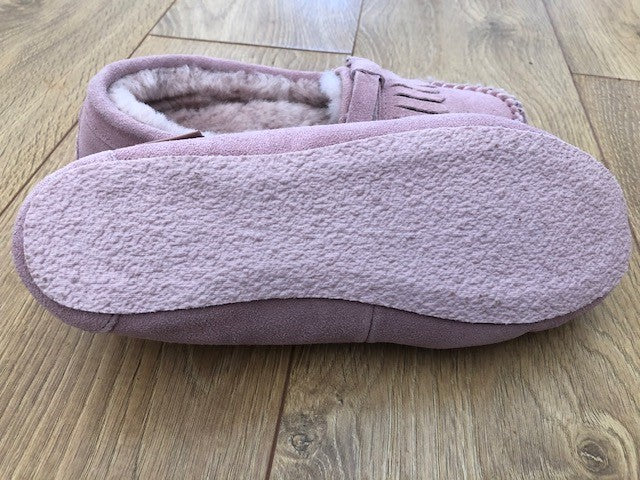 Ladies Moccasin-Australian Sheepskin Pink