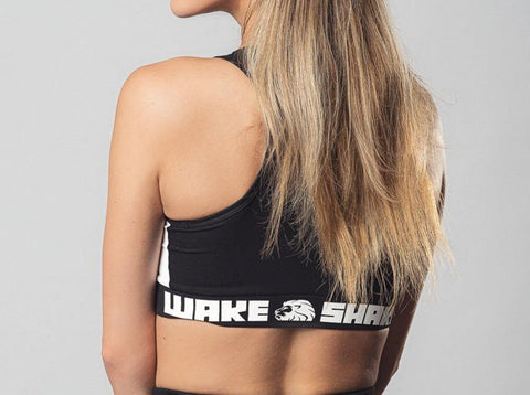 Black sports bra wake&shake athletics