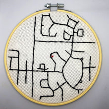 Load image into Gallery viewer, custom map embroidery