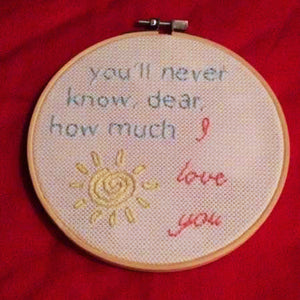 custom quote embroidery