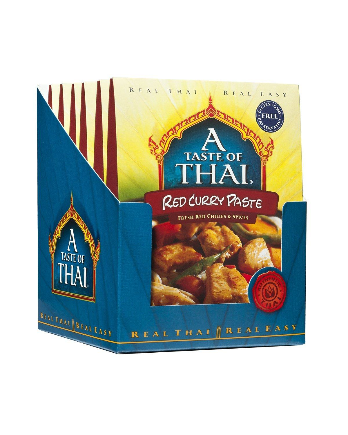 A Taste of Thai Curry Pastes A Taste of Thai Red 1.75 Oz-6 Count