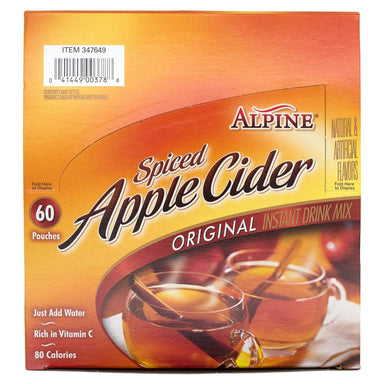 Alpine Spiced Apple Cider Alpine Original 0.74 Oz-60 Count