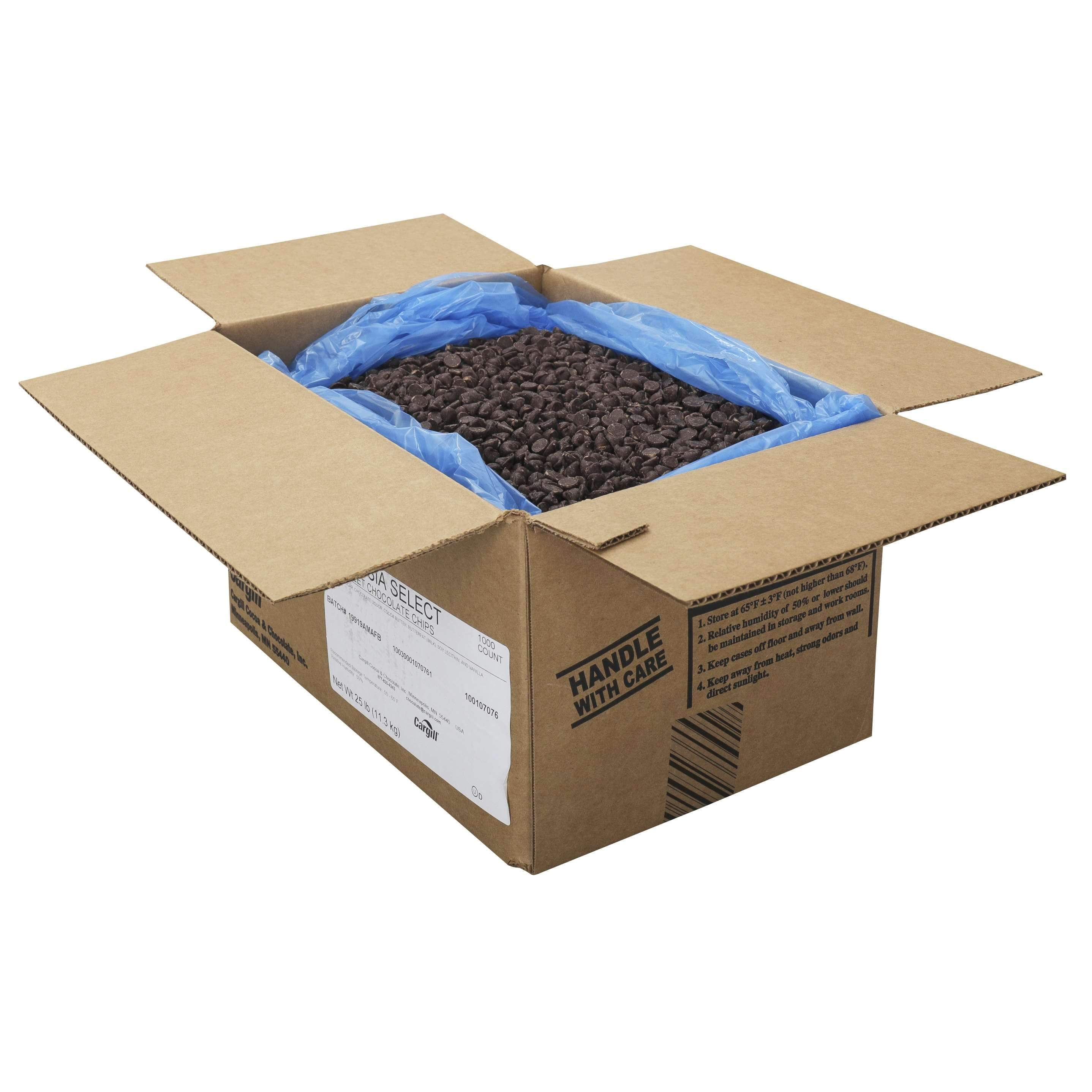 Ambrosia Semi-Sweet Chocolate Chips, 10 Pound Meltable Cargill Cocoa And Chocolate 25 Pound