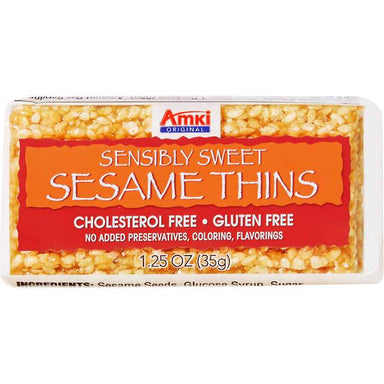 Amki Sensibly Sweet Sesame Thins, 1.25 Ounce, 36 Count Amki
