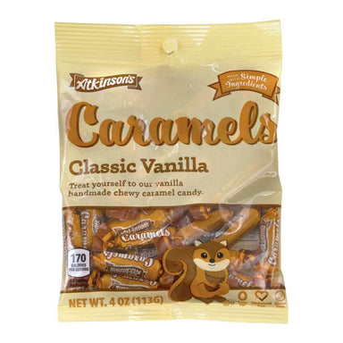 Atkinson's Caramels Candy Atkinson Candy Classic Vanilla 4 Ounce
