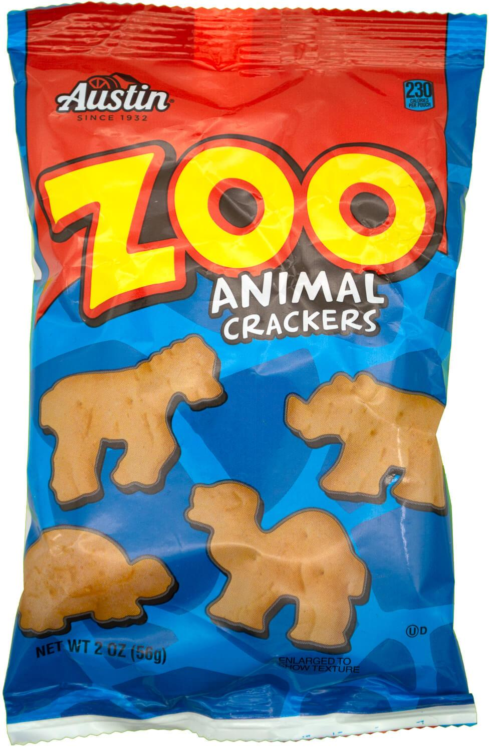 Austin Zoo Animal Crackers, 2 Ounce Austin