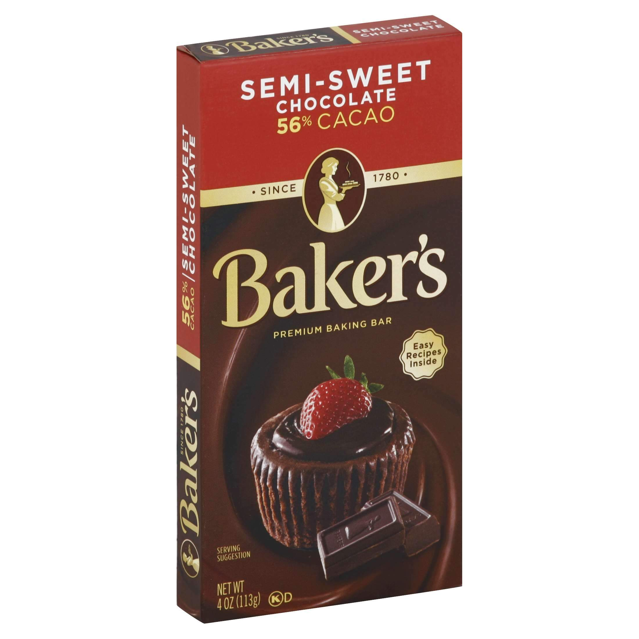 Baker's Chocolate Meltable Baker's Semi-Sweet 4 Ounce