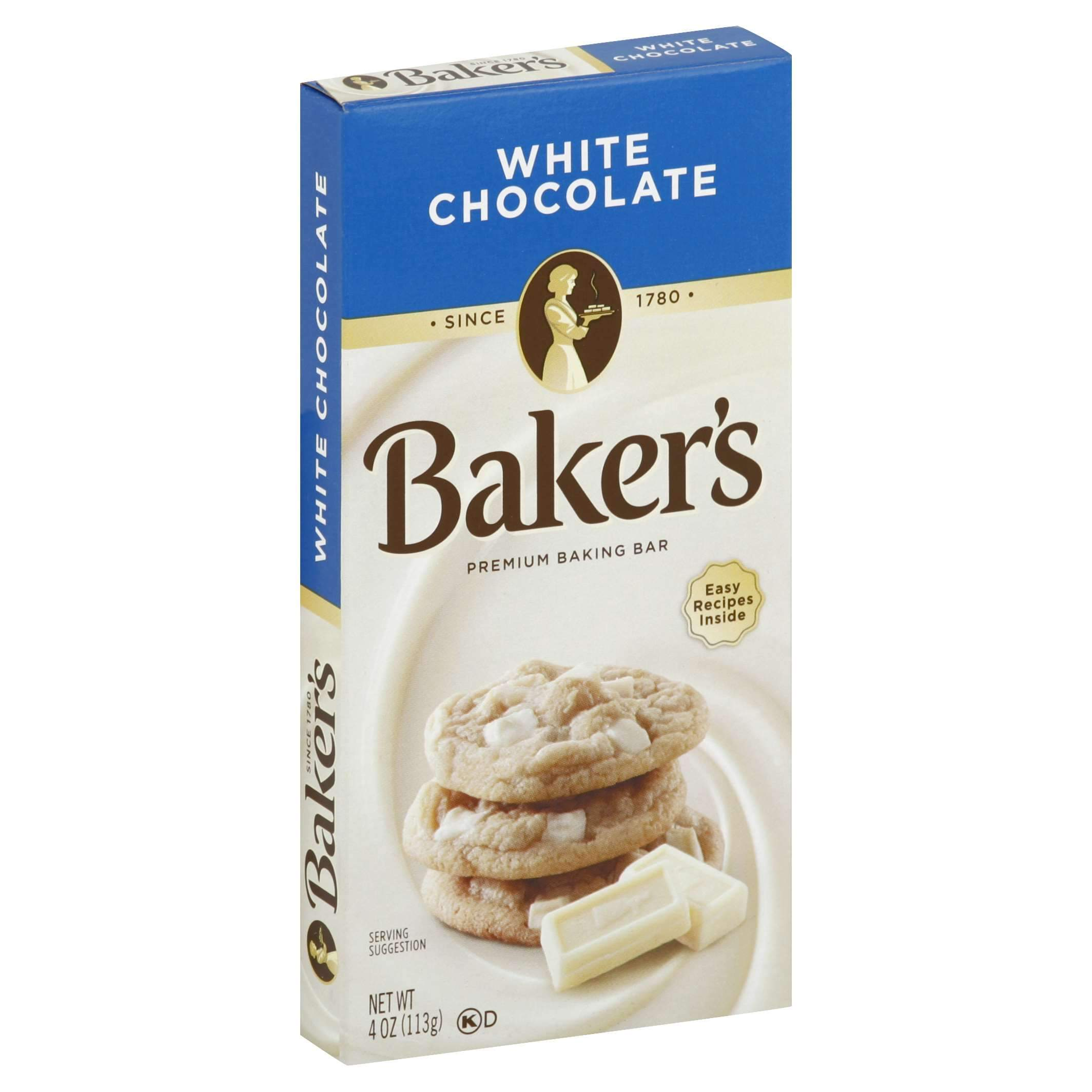 Baker's Chocolate Meltable Baker's White Chocolate 4 Ounce