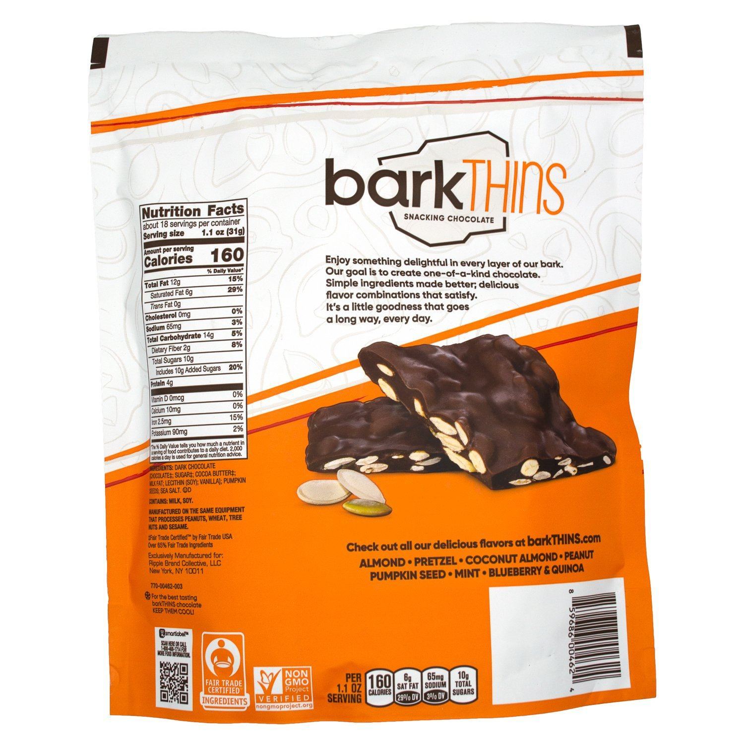 barkTHINS Snacking Chocolate Meltable barkTHINS
