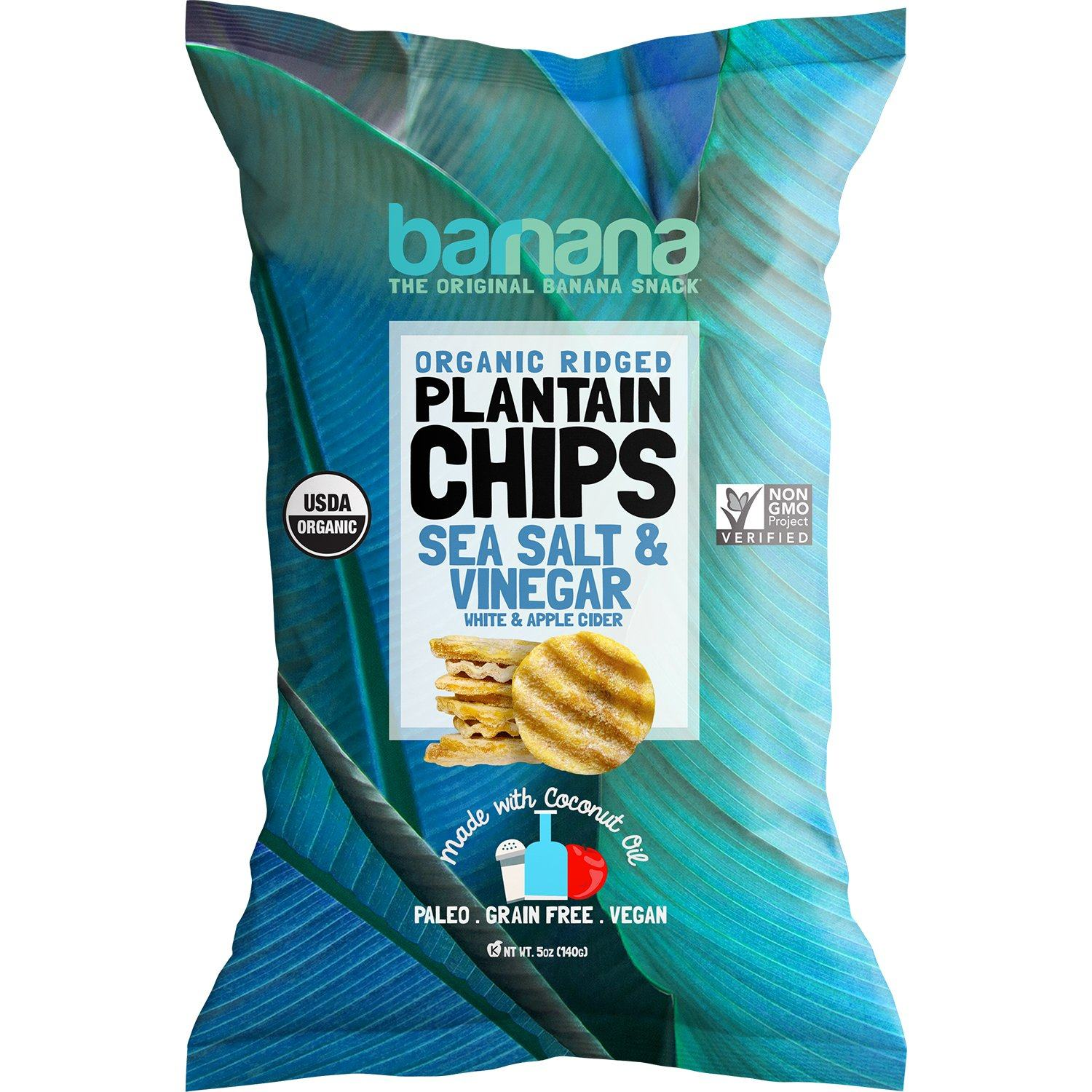 Barnana Organic Plantain Chips Barnana Sea Salt & Vinegar 5 Ounce