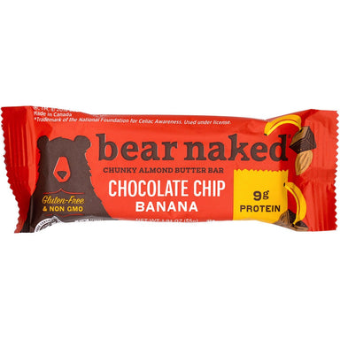 Bear Naked Almond Butter Bars Bear Naked Chocolate Chip Banana 1.94 Ounce
