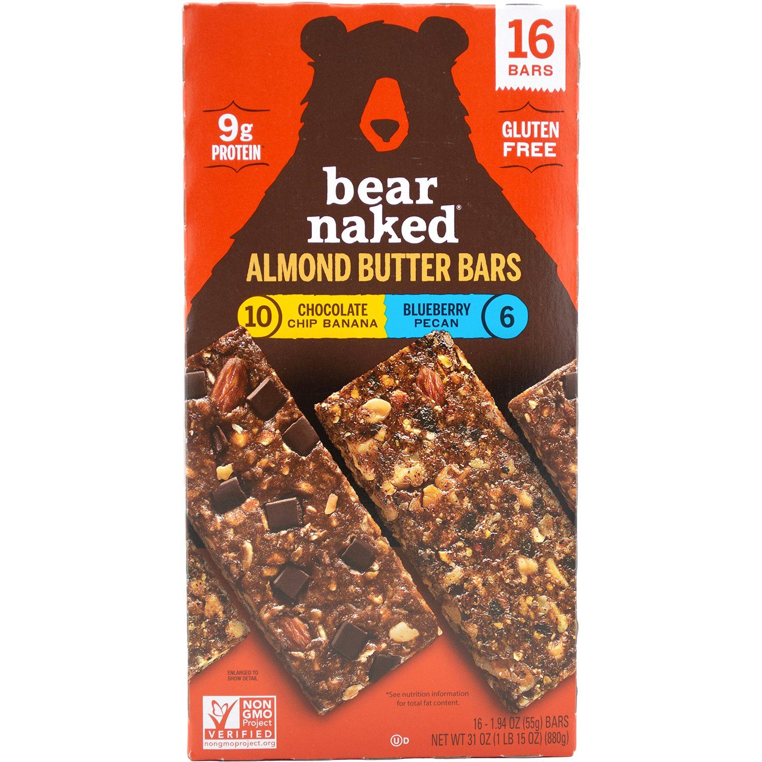 Bear Naked Almond Butter Bars Bear Naked Variety 1.94 Oz-16 Count