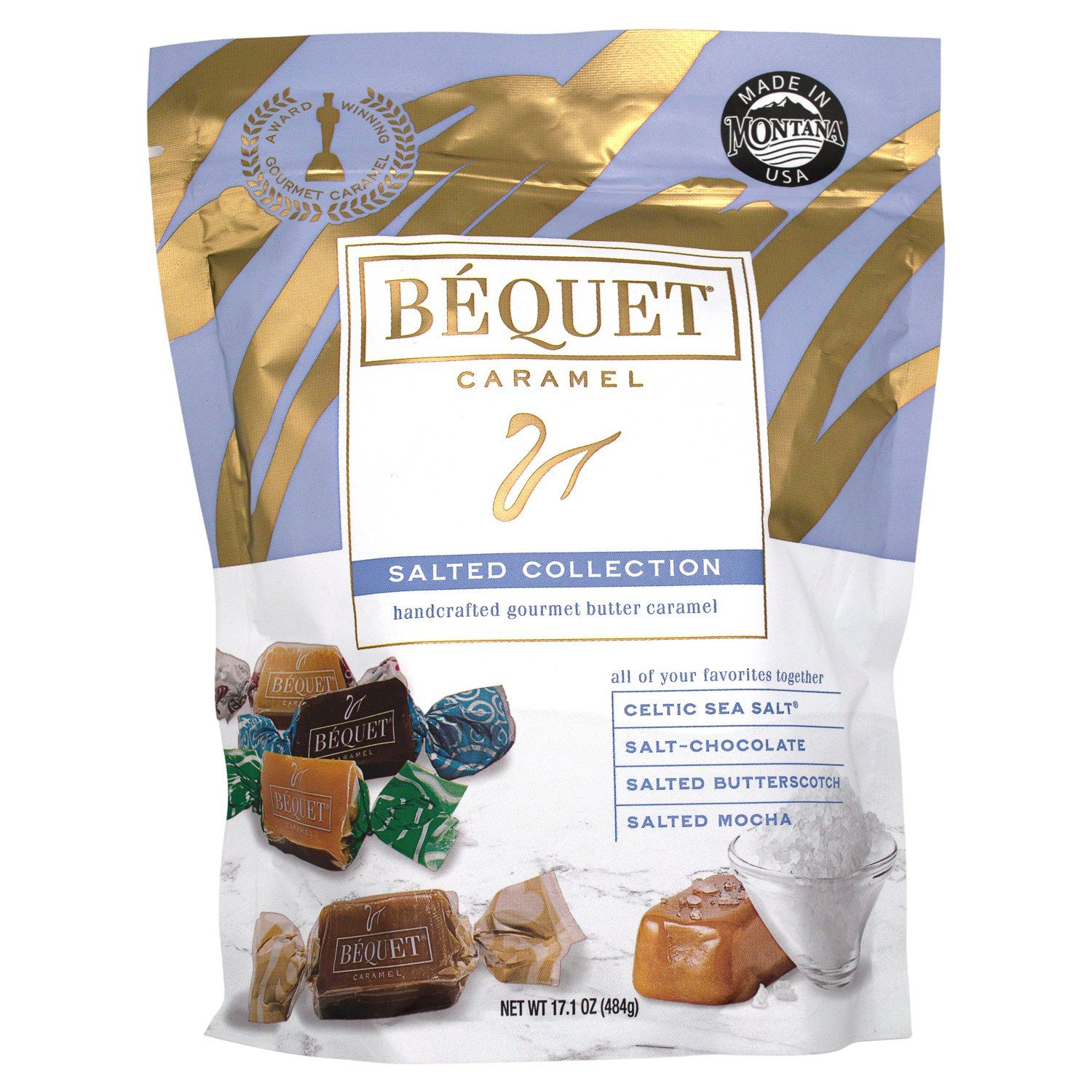 Béquet Caramel Salted Collection Meltable Béquet Salted Collection 17.1 Ounce