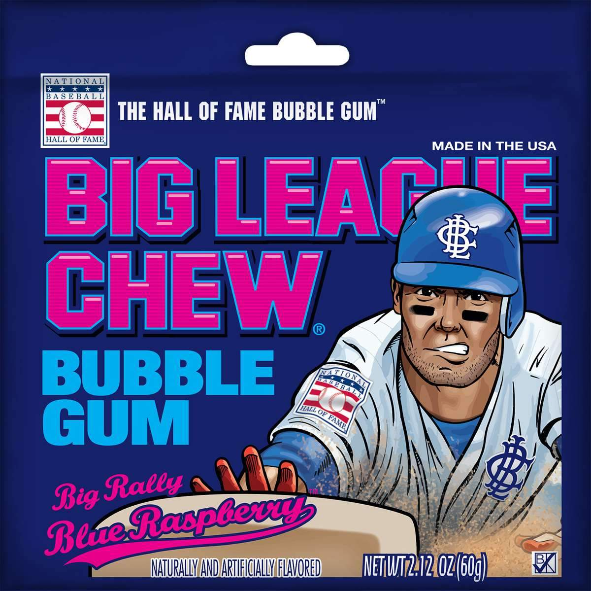 Big League Chew Bubble Gum Big League Chew Blue Raspberry 2.12 Ounce