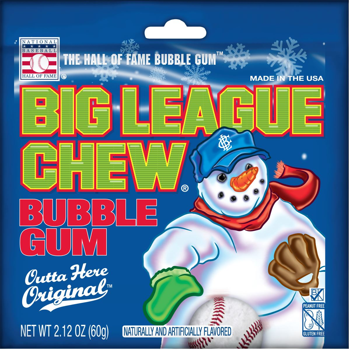 Big League Chew Bubble Gum Big League Chew Christmas 2.12 Ounce