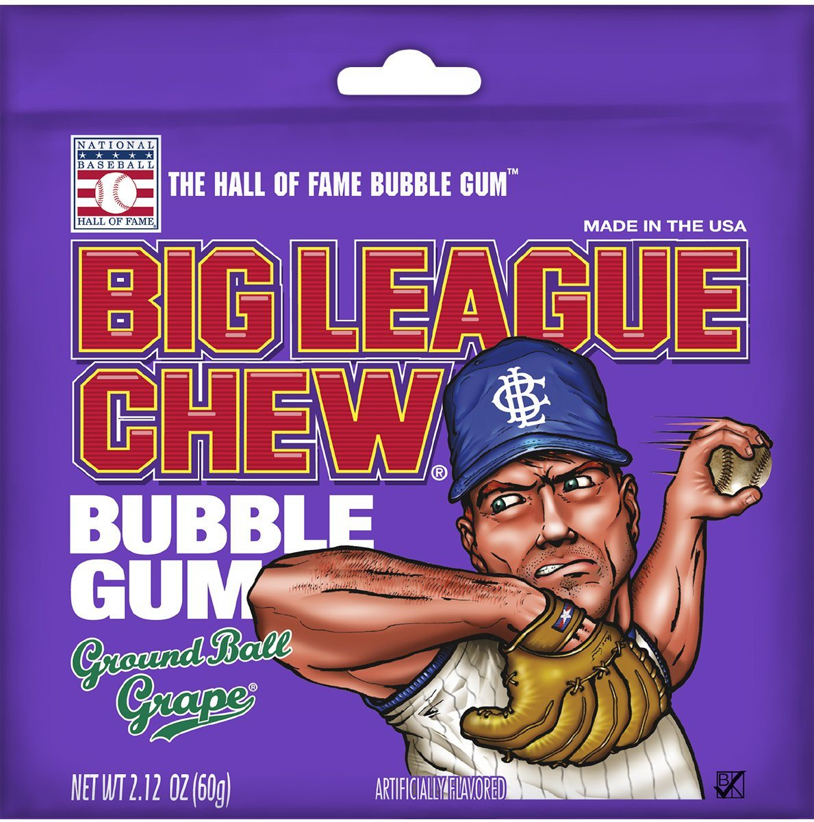 Big League Chew Bubble Gum Big League Chew Grape 2.12 Ounce
