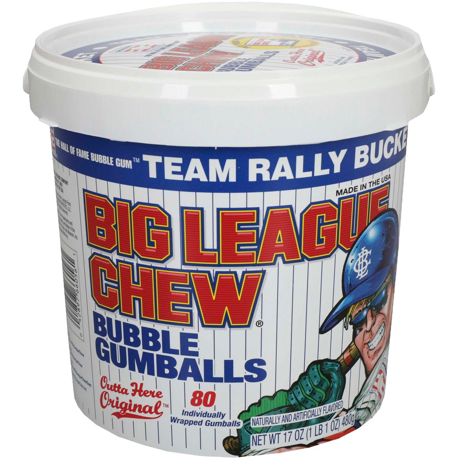 Big League Chew Bubble Gum Big League Chew Original 80 Gumballs Bucket
