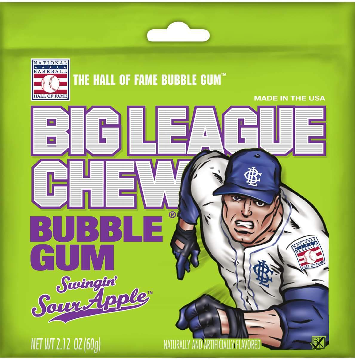 Big League Chew Bubble Gum Big League Chew Sour Apple 2.12 Ounce