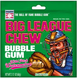 Big League Chew Bubble Gum Big League Chew Watermelon 2.12 Ounce