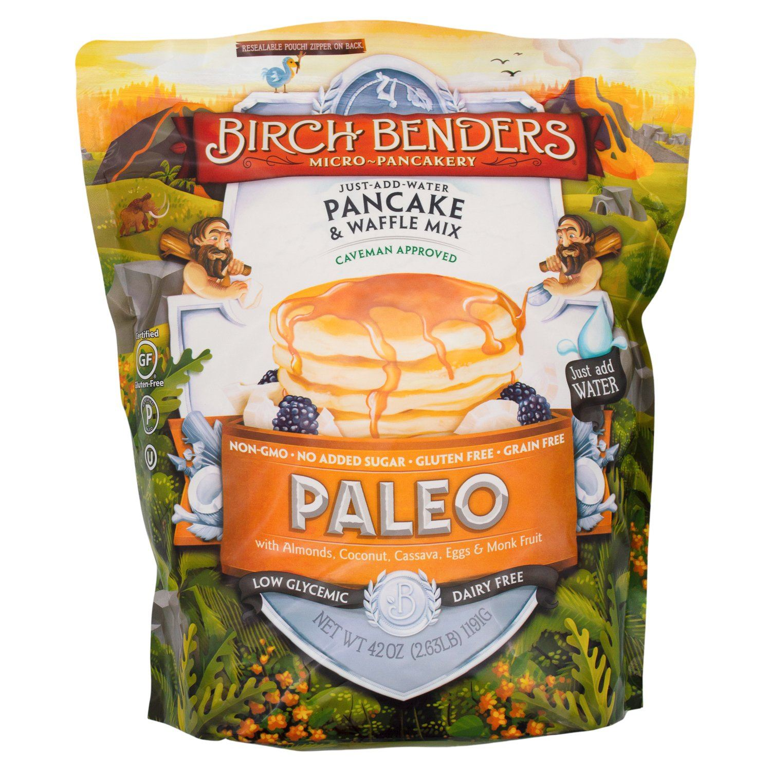 Birch Benders Pancake & Waffle Mix Birch Benders Paleo 42 Ounce