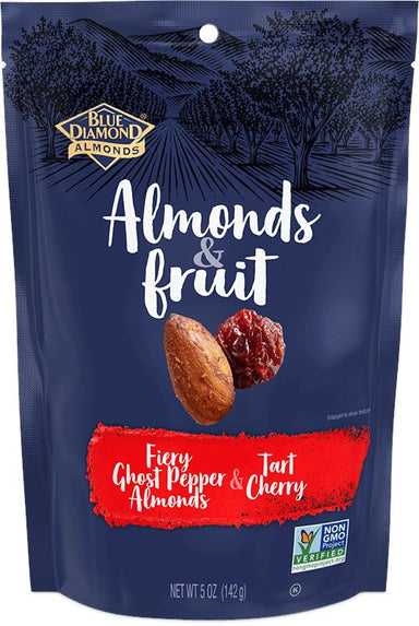 Blue Diamond Almonds & Fruit Blue Diamond Almonds Fiery Ghost Pepper Almonds & Tart Cherry 5 Ounce