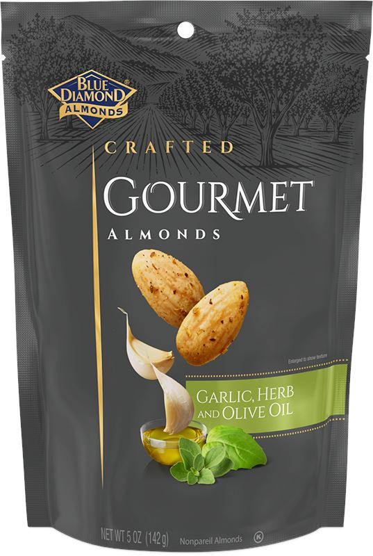Blue Diamond Craft Gourmet Almonds Blue Diamond Almonds Garlic & Herb and Olive Oil 5 Ounce