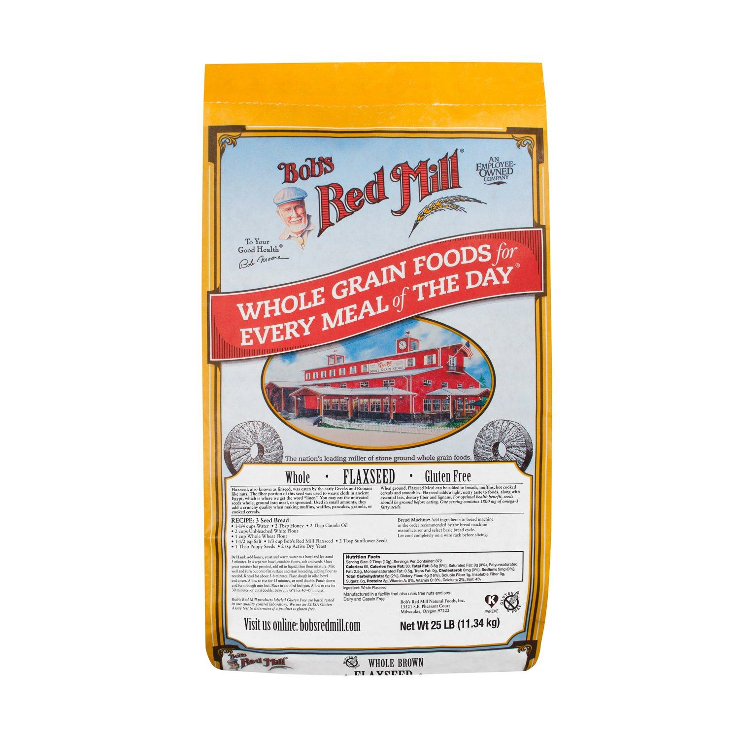 Bob's Red Mill Flaxseed Bob's Red Mill Brown 25 Pound
