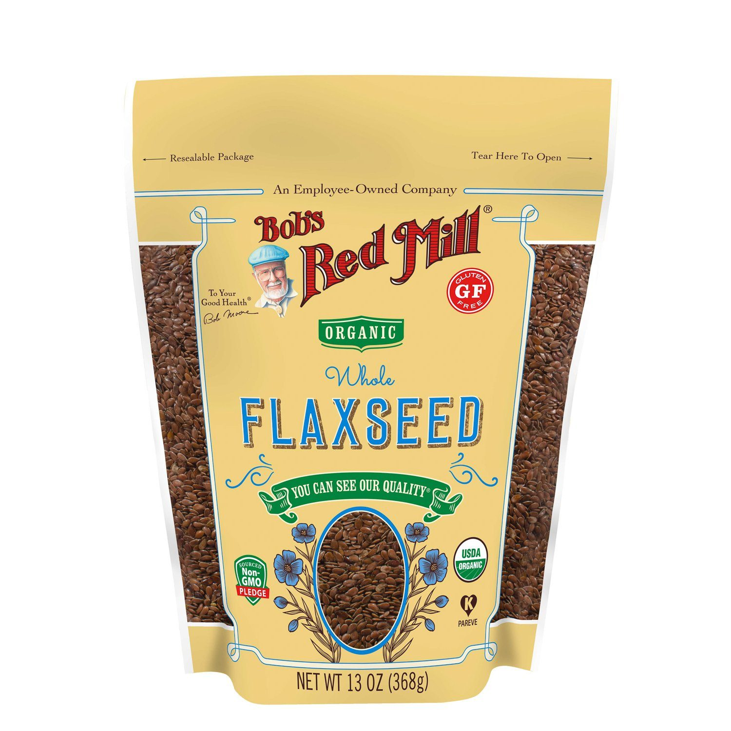 Bob's Red Mill Flaxseed Bob's Red Mill Organic Brown 13 Ounce