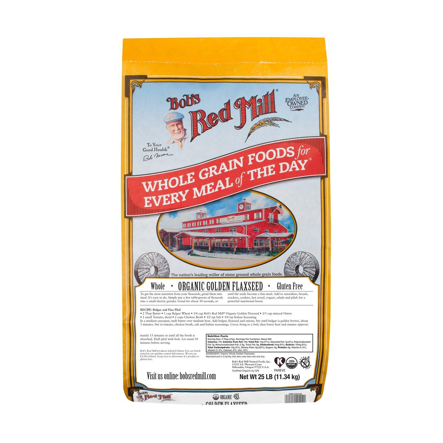 Bob's Red Mill Flaxseed Bob's Red Mill Organic Golden 25 Pound