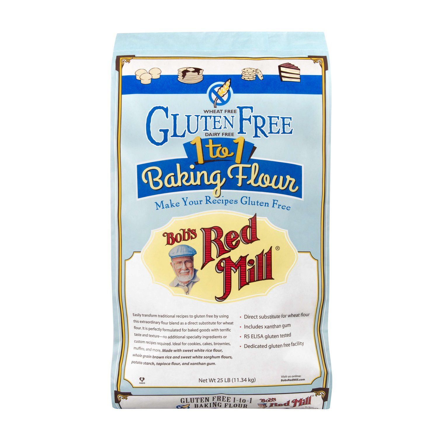 Bob's Red Mill Gluten Free 1-to-1 Baking Flour Bob's Red Mill 25 Pound