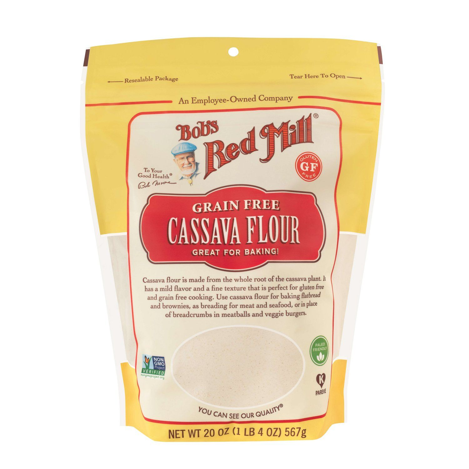 Bob's Red Mill Gluten Free Cassava Flour Bob's Red Mill 20 Ounce