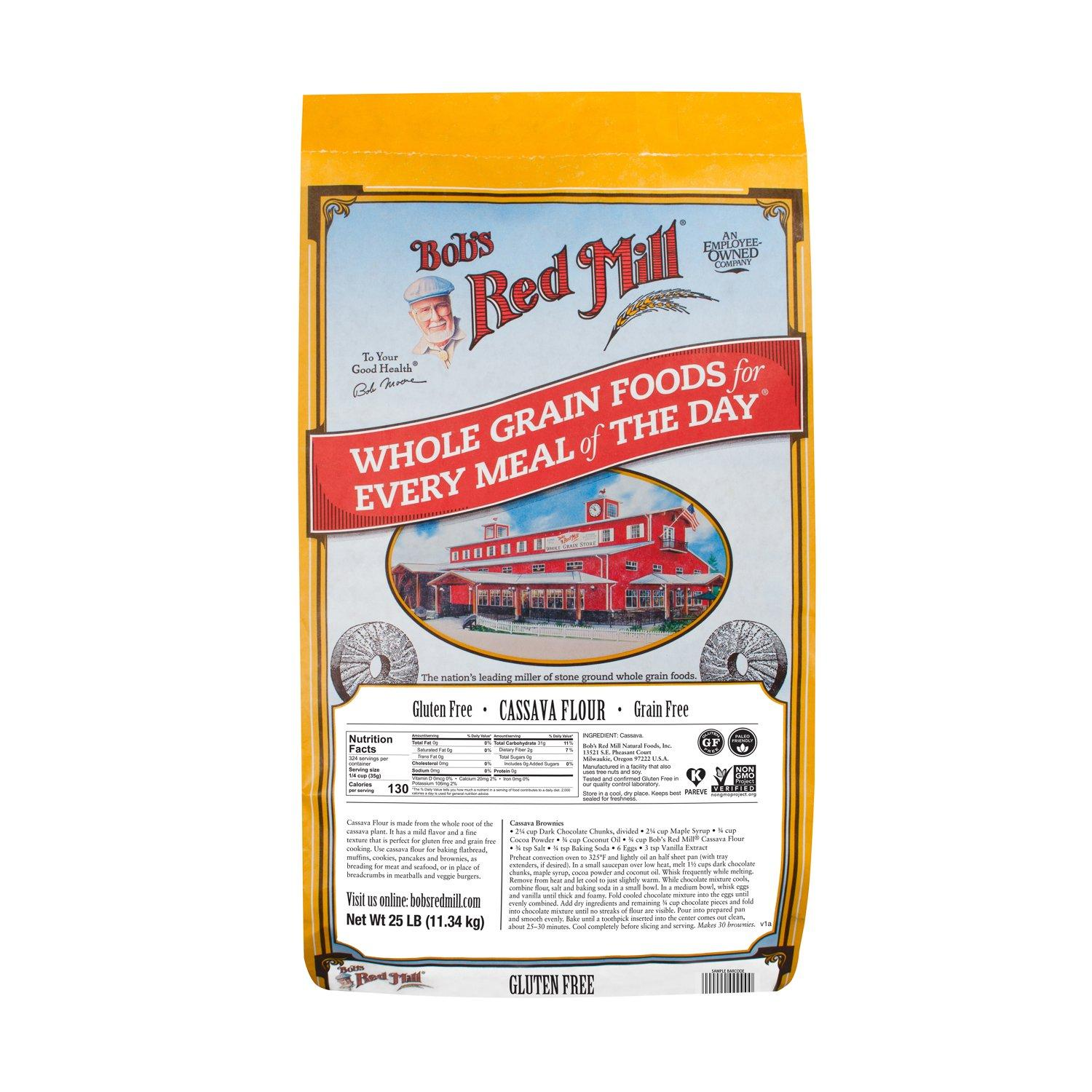 Bob's Red Mill Gluten Free Cassava Flour Bob's Red Mill 25 Pound