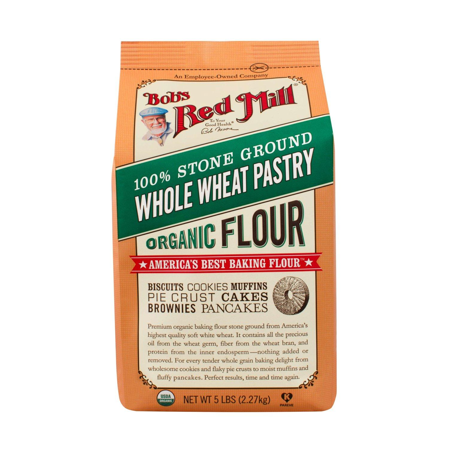 Bob's Red Mill Pastry Flour Bob's Red Mill Organic Whole Wheat 5 Pound