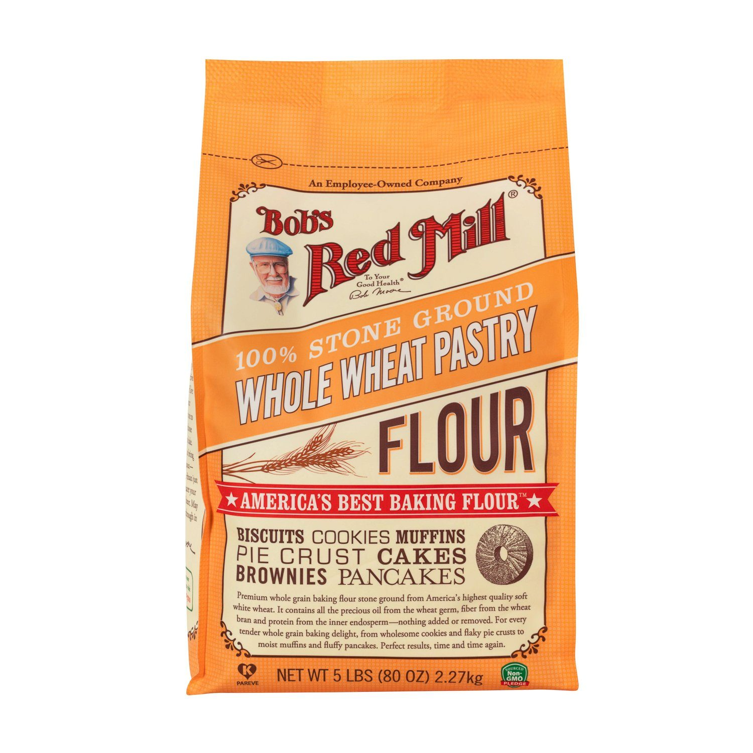 Bob's Red Mill Pastry Flour Bob's Red Mill Whole Wheat 5 Pound