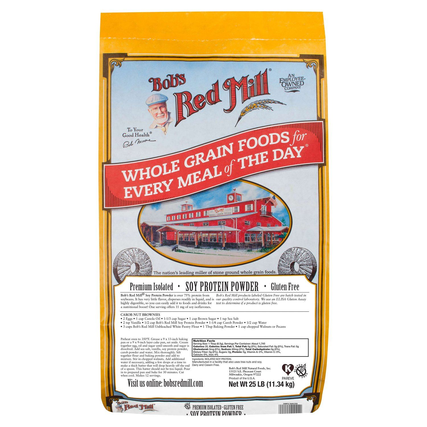Bob's Red Mill Soy Protein Powder Bob's Red Mill 25 Pound