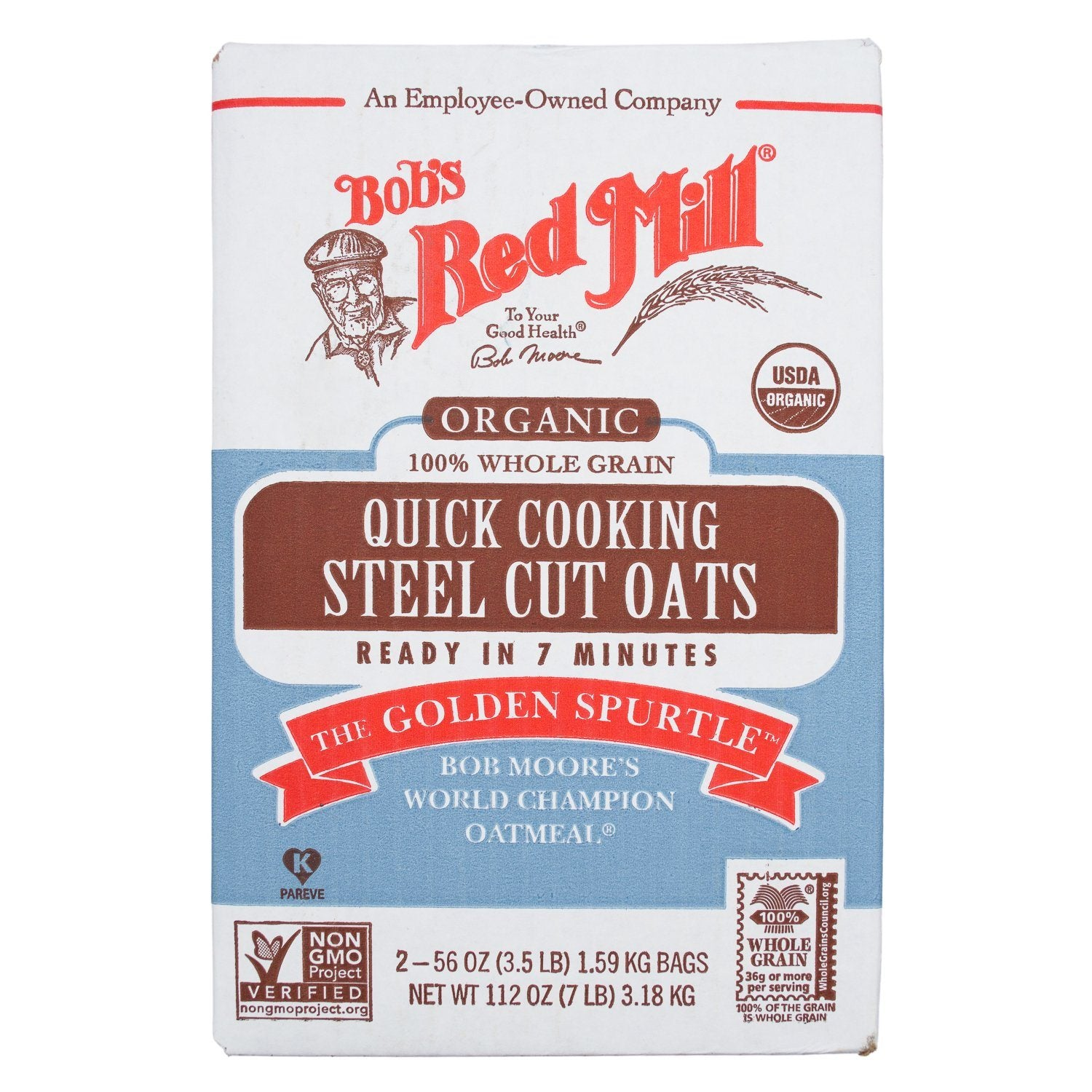 Bob's Red Mill Steel Cut Oats Bob's Red Mill Organic Quick Cooking 56 Oz-2 Count