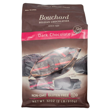 Bouchard Belgian Chocolate Meltable Bouchard Chocolate Dark Belgian Chocolate Napolitains 32 Ounce