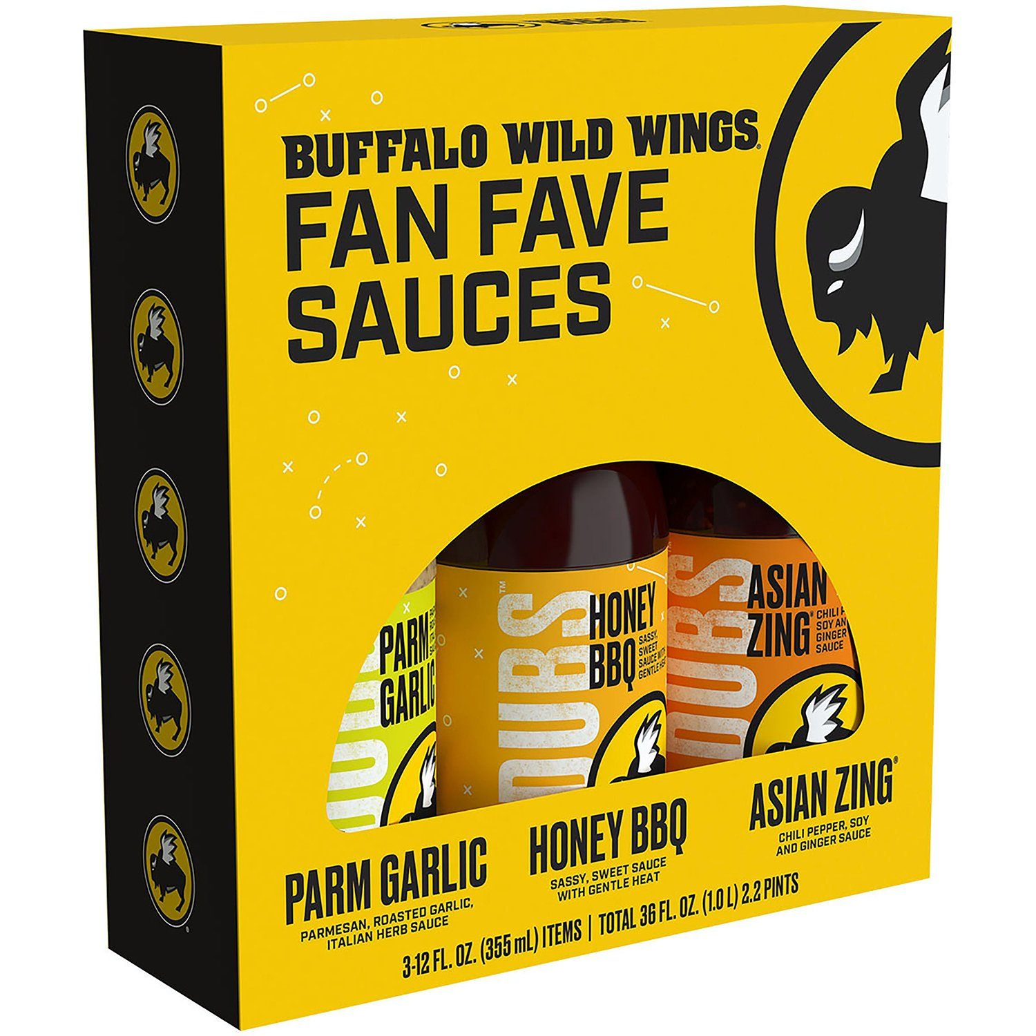 Buffalo Wild Wings Sauces Buffalo Wild Wings Variety 3 Flavors 12 Fl Oz-3 Count