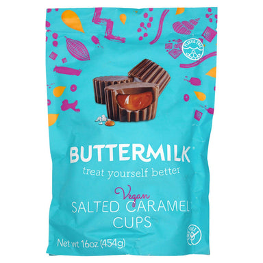 Buttermilk Vegan Salted Caramel Cups Meltable Buttermilk 16 Ounce