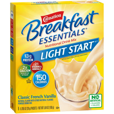 Carnation Breakfast Essentials Drink Mix Nestle Classic French Vanilla 5.64 Oz-8 Count