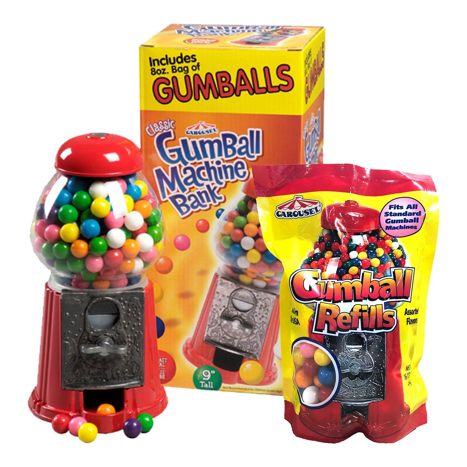 Carousel Gumball Machines and Refills Ford Gum & Machine
