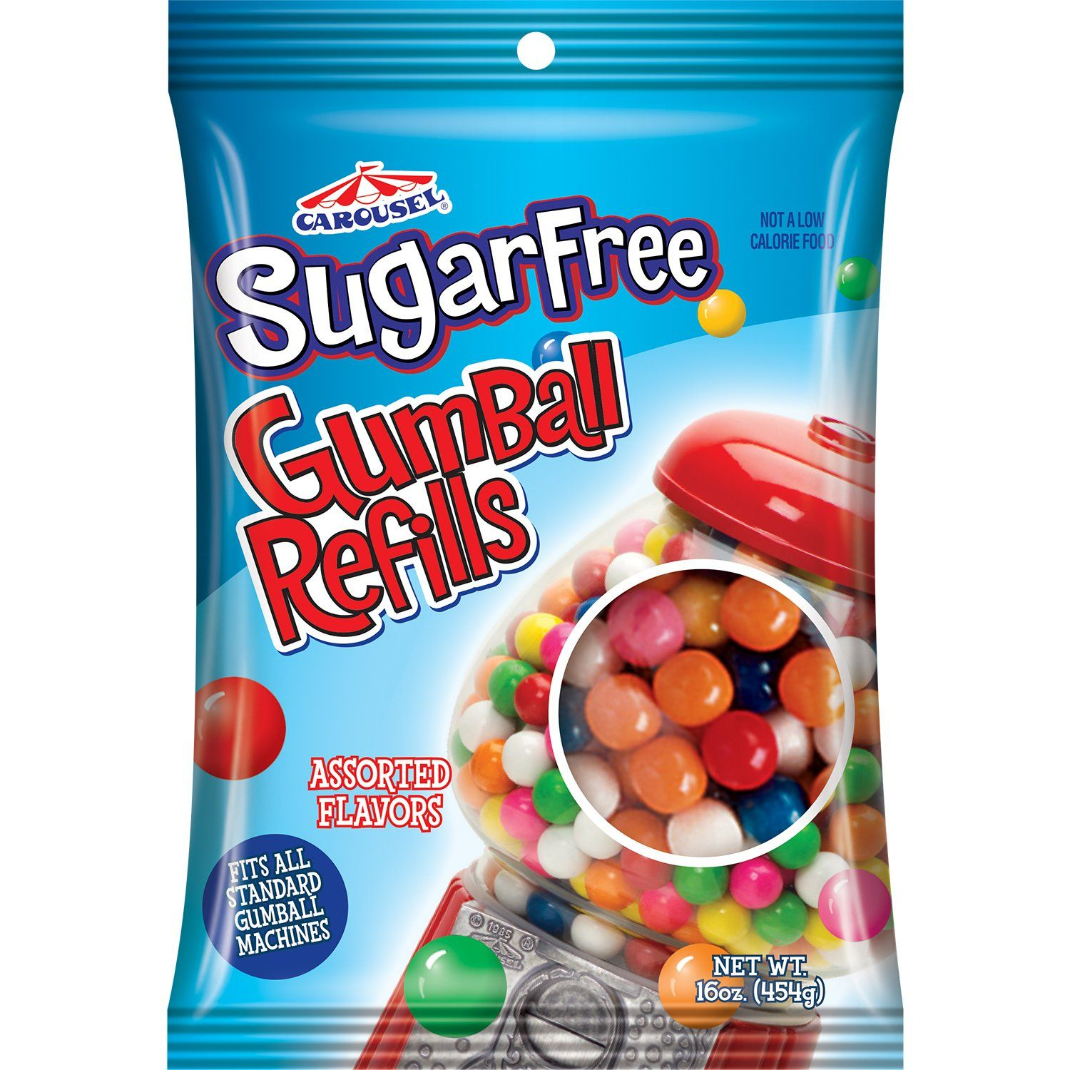 Carousel Gumball Machines and Refills Ford Gum & Machine Sugar Free Gumball Refill 16 Ounce